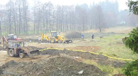 Budování cvičiště pod rybníkem Kaňovec