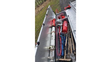 Předání cisternové automobilové stříkačky CAS 20 Tatra 815–2 - 22. listopadu 2015