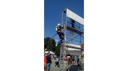 Soutěž TFA (Nejtvrdší hasič přežije) Nové Město na Mor. 8.7.2017