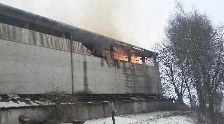 10.2.2018 Řečice - požár seníku